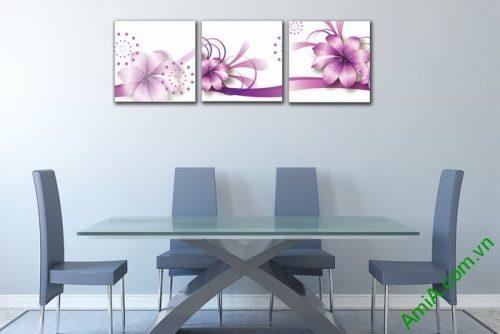 Tranh trang trí phòng khách, phòng ngủ hoa vector nghệ thuật-02
