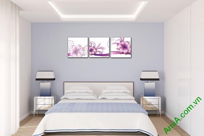 Tranh trang trí phòng khách, phòng ngủ hoa vector nghệ thuật-03