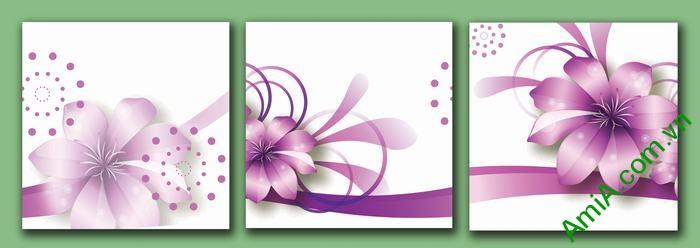 Tranh trang trí phòng khách, phòng ngủ hoa vector nghệ thuật