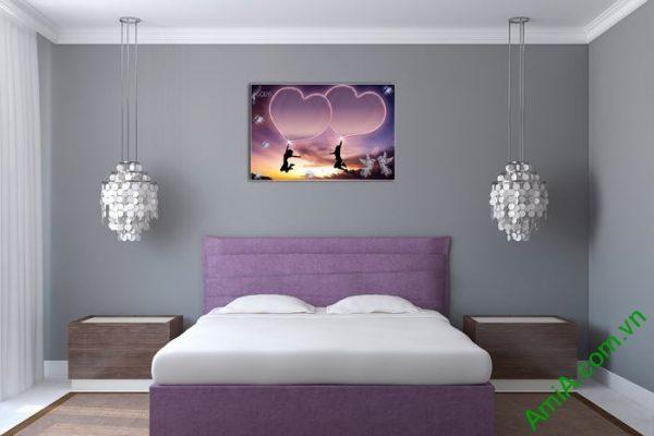 Tranh trang trí phòng khách, phòng ngủ tình yêu Amia 481-01