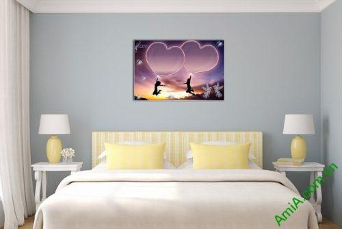 Tranh trang trí phòng khách, phòng ngủ tình yêu Amia 481-02