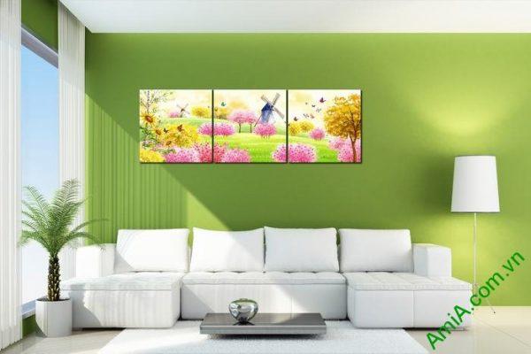 Tranh trang trí phòng khách, phòng trẻ em xứ sở thần tiên Amia 456-02
