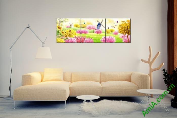 Tranh trang trí phòng khách, phòng trẻ em xứ sở thần tiên Amia 456-03