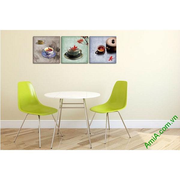 Tranh trang trí phòng khách, quán cafe thưởng trà độc đáo-00
