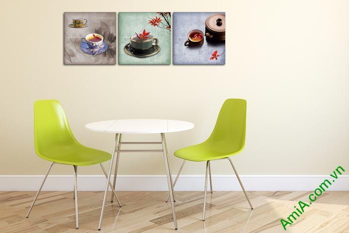 Tranh trang trí phòng khách, quán cafe thưởng trà độc đáo-01