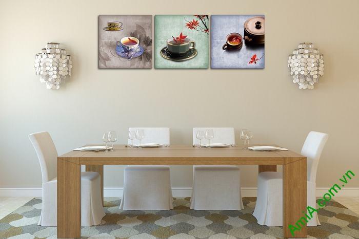 Tranh trang trí phòng khách, quán cafe thưởng trà độc đáo-02