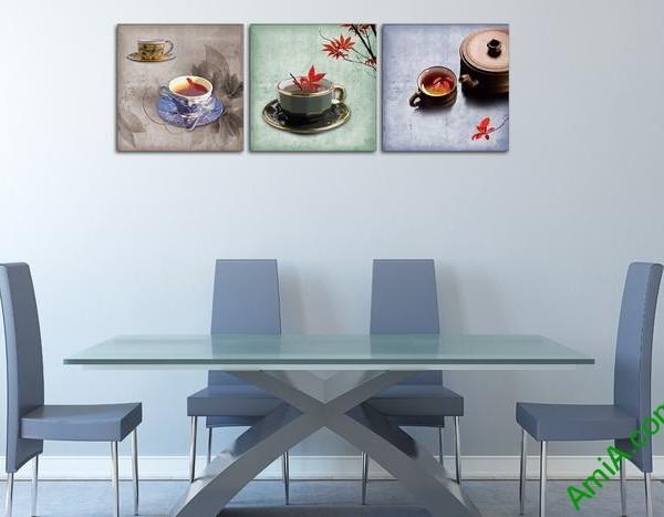 Tranh trang trí phòng khách, quán cafe thưởng trà độc đáo-03