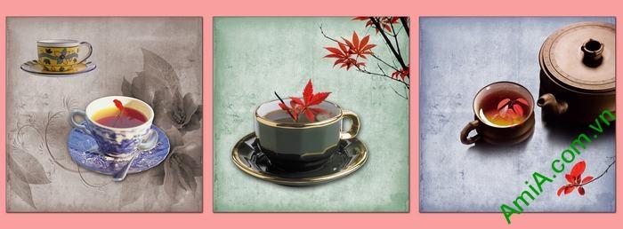 Tranh trang trí phòng khách, quán cafe thưởng trà độc đáo