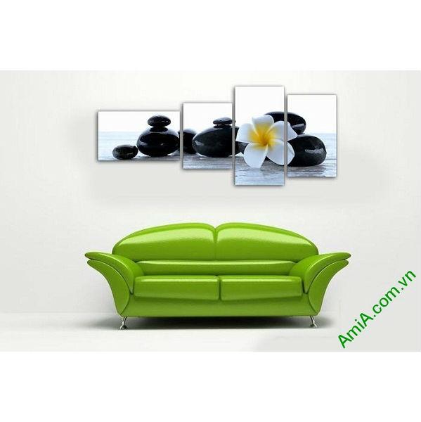 Tranh trang trí phòng khách, spa hoa sứ đá Amia 554-00
