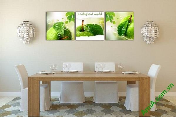 Tranh trang trí phòng ăn, phòng khách hoa quả mát lạnh-02