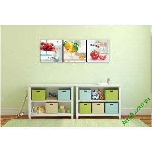 Tranh trang trí phòng trẻ em ngộ nghĩnh trái cây Amia 547-00