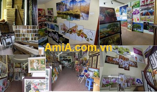 Siêu thị tranh trang trí phòng khách AmiA Hà Nội