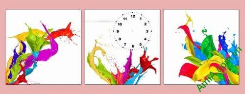 Đồng hồ tranh treo tường màu sắc phá cách nghệ thuật
