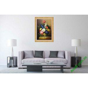 Tranh bình hoa trang trí nghệ thuật hiện đại AmiA 594-00