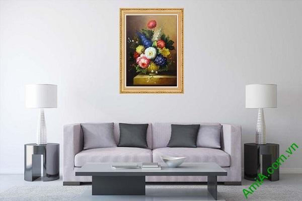 Ý nghĩa tranh bình hoa làm nghệ thuật làm đẹp phòng khách