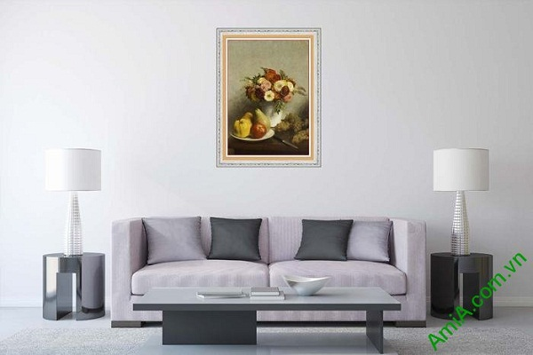 Tranh bình hoa trang trí nghệ thuật hiện đại AmiA 611-01