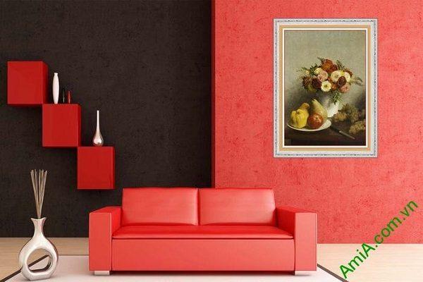Tranh bình hoa trang trí nghệ thuật hiện đại AmiA 611-02