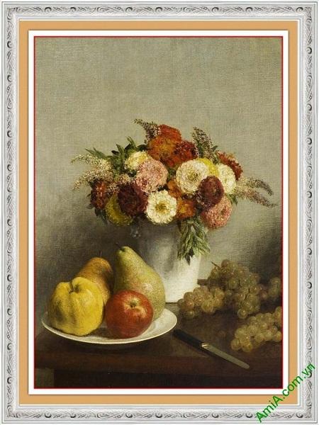 Tranh bình hoa trang trí nghệ thuật hiện đại AmiA 611