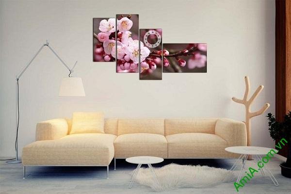 Tranh ghép bộ trang trí khổ lớn hoa anh đào AmiA 664-01