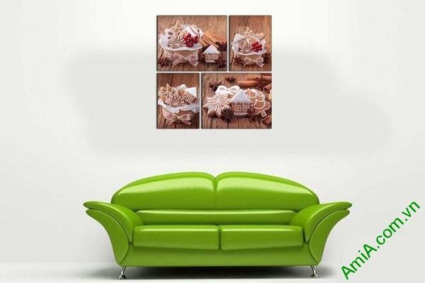 Tranh ghép bộ trang trí phòng khách tiệm bánh tình yêu-01