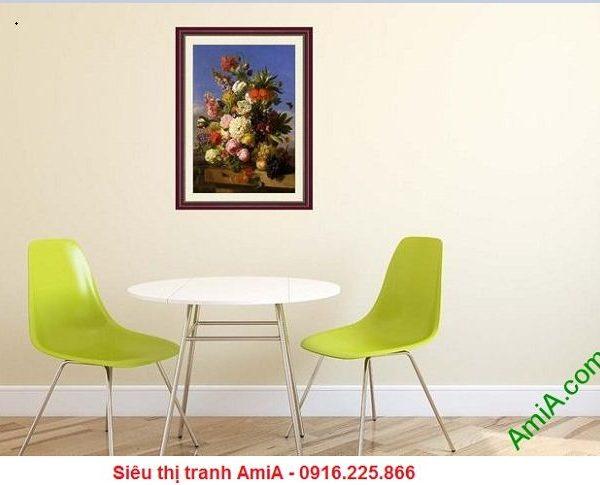 Tranh hoa quả trang trí đặt treo trong phòng ăn