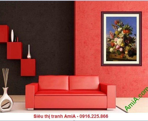 Tranh hoa quả trang trí đặt treo phòng khách