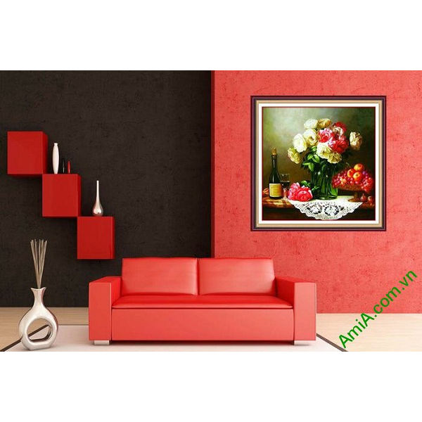 Tranh nghệ thuật trang trí bàn ăn sang trọng AmiA 687-00