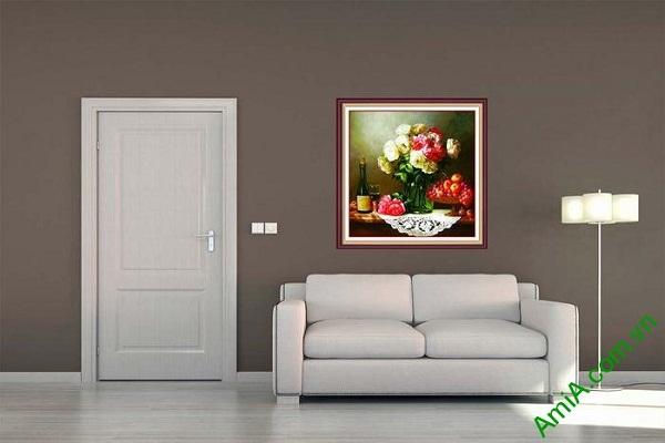 Tranh nghệ thuật trang trí bàn ăn sang trọng AmiA 687-01