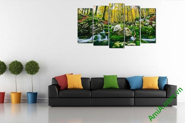 Tranh phong cảnh cây rừng trang trí phòng khách hiện đại-02
