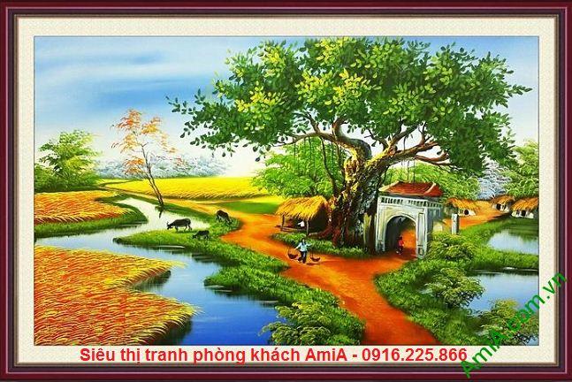 Hình ảnh Tranh phong cảnh quê hương Việt Nam