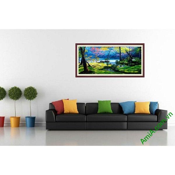 Tranh phong cảnh rừng già trang trí phòng khách ấn tượng-00