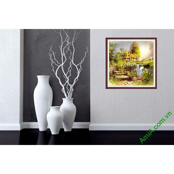 Tranh phong cảnh thiên nhiên đẹp trang trí phòng khách-00