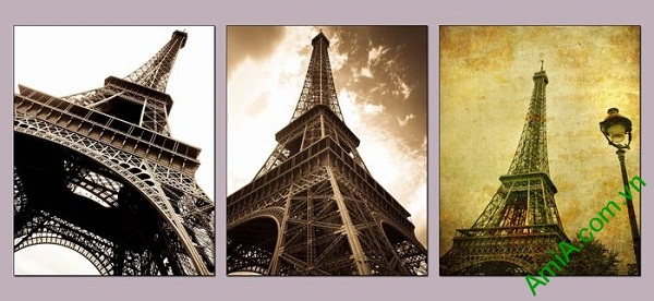 Tranh tháp Eiffel trang trí phòng khách hiện đại AmiA 696