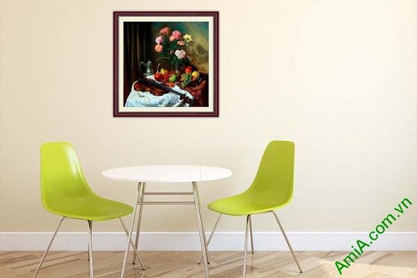 Tranh tĩnh vật nghệ thuật trang trí phòng khách, phòng ăn-01