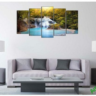 Tranh trang trí khổ lớn thác nước thiên nhiên AmiA 610-00