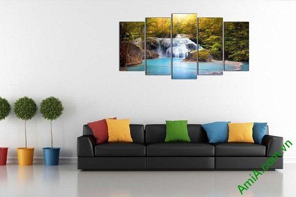 Tranh trang trí khổ lớn thác nước thiên nhiên AmiA 610-01
