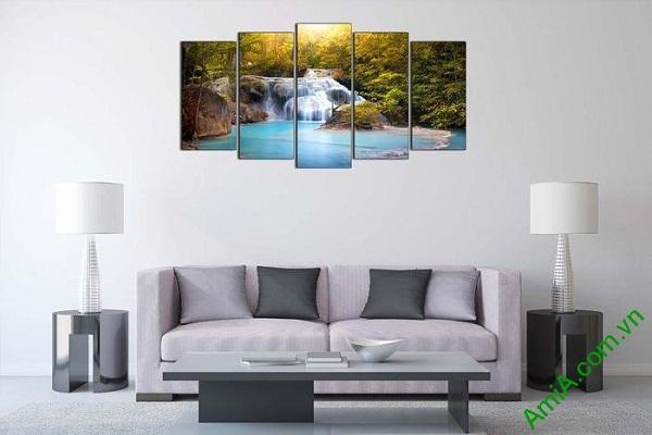 Tranh trang trí khổ lớn thác nước thiên nhiên AmiA 610-02