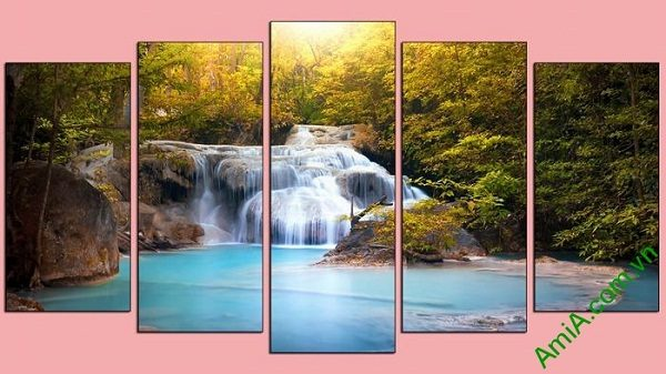 Tranh trang trí khổ lớn thác nước thiên nhiên AmiA 610