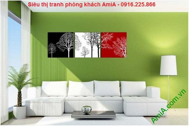 Tranh trang trí nghệ thuật cây đời treo phòng khách ấn tượng