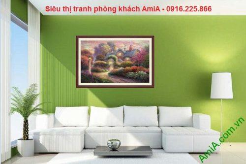 Tranh trang trí nghệ thuật ngôi nhà mơ ước
