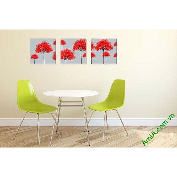 Tranh trang trí nghệ thuật phòng khách cây sắc màu AmiA 662-00