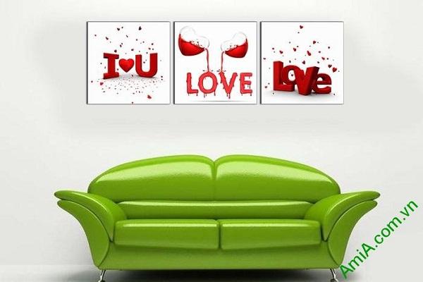 Tranh trang trí nghệ thuật tình yêu treo tường phòng khách-01