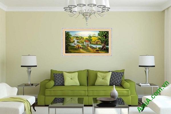 Tranh trang trí phong cảnh đồng quê Việt Nam AmiA 605-01