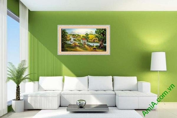 Tranh trang trí phong cảnh đồng quê Việt Nam AmiA 605-02