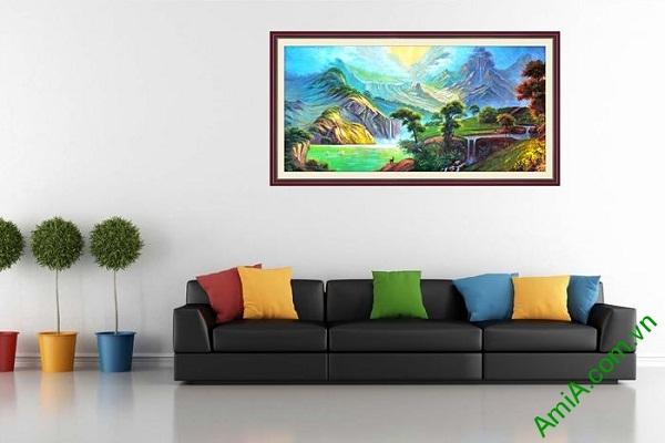 Tranh trang trí phong cảnh khổ lớn sơn thủy AmiA 698-02