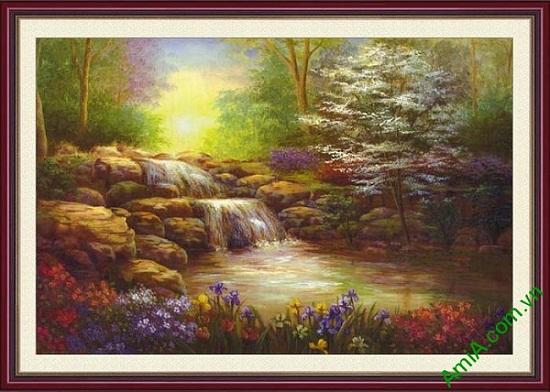 Tranh trang trí phong cảnh một tấm khổ nhỏ AmiA 648