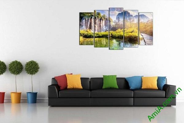 Tranh trang trí phong cảnh thiên nhiên thác nước hùng vĩ-02