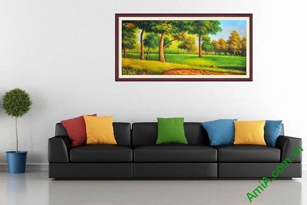 Tranh trang trí phòng khách khung cảnh đẹp cây xanh AmiA 670-01