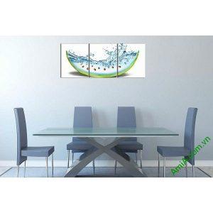 Tranh trang trí phòng khách, phòng ăn dưa hấu mát lạnh-00