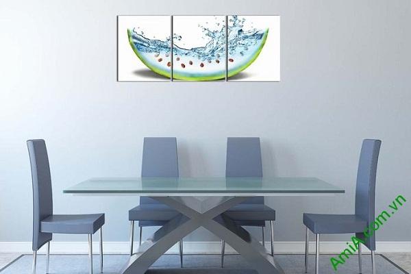 Tranh trang trí phòng khách, phòng ăn dưa hấu mát lạnh-01